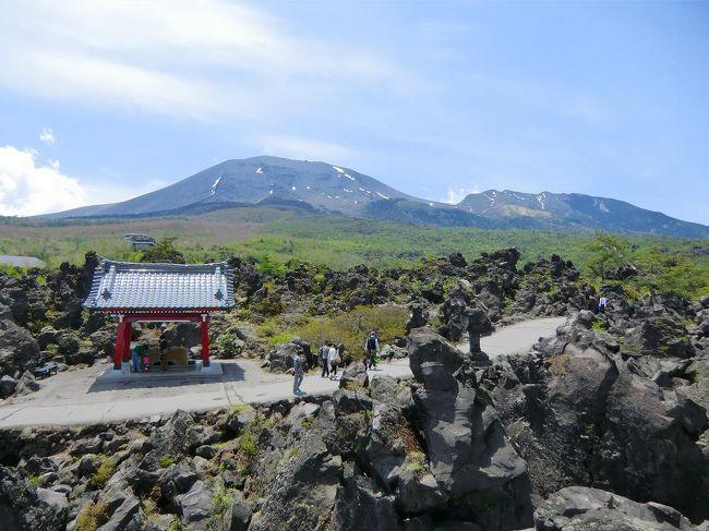北軽井沢の見所は少ない。取りあえず「鬼押出し園」(写真)「白糸の滝」「浅間牧場・丘を越えて」等を見て回る。その他は天気と気分次第で北軽井沢の森の中を徘徊する。<br /><br />私のホームページ『第二の人生を豊かに―ライター舟橋栄二のホームページ―』に旅行記多数あり。<br />http://www.e-funahashi.jp/<br />