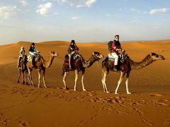 サハラ砂漠を目指してモロッコ一人旅3*・゜・*月明かりの下でキャンプ/サハラ砂漠*・゜・*