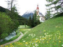 2012年 中欧旅行 絵葉書の村再び チロル・オーベルンベルクの教会と湖