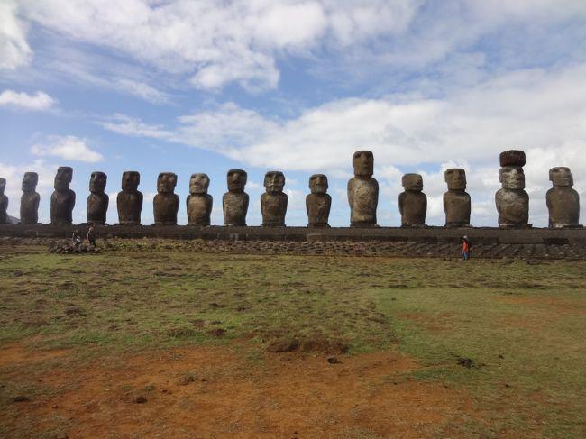 イースター島およびガラパゴス諸島に2週間旅行してきました。訪問地は<br />チリのサンチャゴ・イースター島、エクアドルのグアヤキル・ガラパゴス諸島・キト<br />です。<br />6/19はイースター島の北部・西部を観光