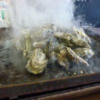 寿都 かき小屋で牡蠣三昧