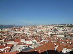 優雅なポルトガル旅・憧れのマデイラ島でバカンス♪ Vol9(第2日目午前) ☆リスボン:「サン・ジョルジェ城」の公園から朝日を浴びて輝くリスボンの街並み♪