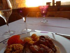 優雅なポルトガル旅・憧れのマデイラ島でバカンス♪ Vol37(第3日目夜) ☆オビドス:古城ホテル「ポザーダ・ド・カステロ」のメインダイニングで夕暮れを眺めながら優雅なディナー♪