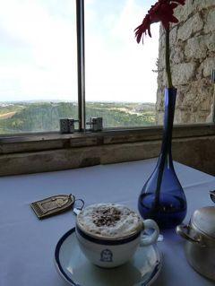 優雅なポルトガル旅・憧れのマデイラ島でバカンス♪ Vol41(第4日目朝) ☆オビドス:古城ホテル「ポザーダ・ド・カステロ」のメインダイニングで朝食♪晴れ渡った景色を眺めて♪