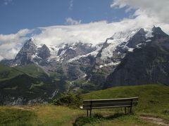 201207-09 パリ&スイス (2012年7月17日 アルメントフーベル~グレッチアルプ間トレッキング)Trekking between Allemendhubel and Grutschalp / Switzerland
