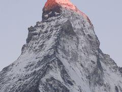 201207-11 パリ&スイス (2012年7月18日 朝焼けマッターホルン)Matterholn in the morning
