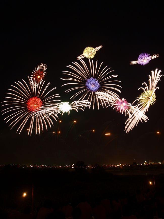 宇宙柄の長岡の花火