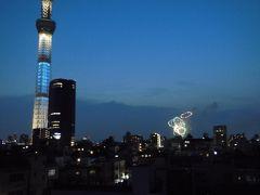スカイツリーと墨田川花火大会