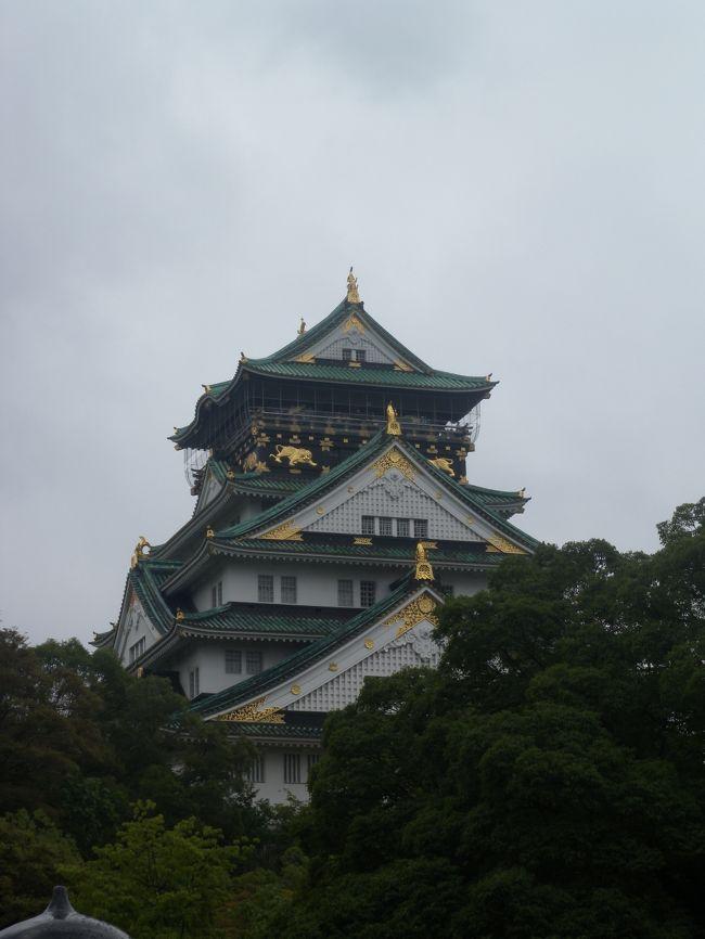 今年もこの日がやってきました、8月14日。終戦の前日、大阪大空襲の日です。戦争が終わる日を目前にして多くの方が犠牲となったこの日、京橋駅では慰霊祭が毎年行われています。関係者の高齢化が言われる中、次世代に伝えていく役割の一端を担おうと昨年から参加しています。<br /><br />慰霊祭の後、昨年同様、大阪城や真田山陸軍墓地を巡り、空襲や戦争の被害の大きさ、悲惨さを感じ、平和について考え、学ぶ一日でした。昨年の晴天猛暑と異なり、今年は曇天、時々雨、適度な暑さでしたので、多少余裕をもって歩き回れました。