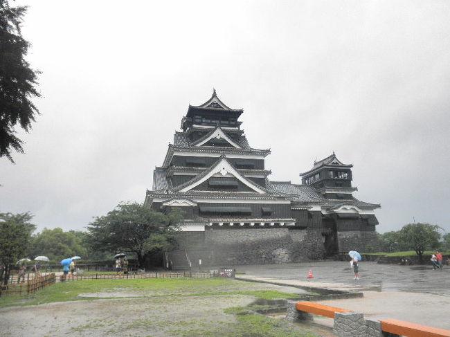 二日目は熊本城へ。<br /><br />雨はまだ止みません。