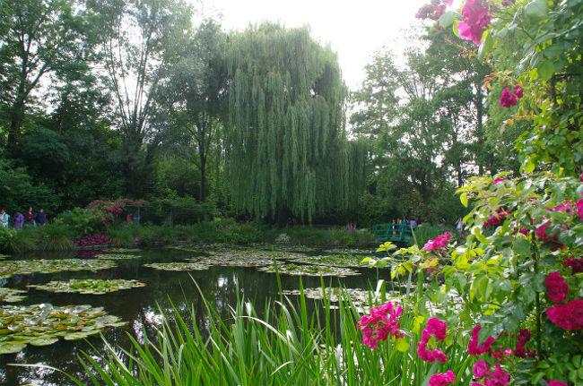 11年前にも行こうと思っていたけれど、行き方がよくわからず、PASSしてしまったジヴェルニーのモネの家とお庭。今回は再チャレンジとなりました。事前の下調べもしっかりとして水連の咲く素晴らしいお庭をみることができました。<br /><br /><スケジュール><br /> 7月 6日 ニース<br /> 7月 7日 ロクブリュヌ・カップ・マルタン/シャガールミュージアム(ニース)<br /> 7月 8日 ニースの朝市/ヴィルフランシュ・シュル・メール/アンティーブ<br /> 7月 9日 アルル/アヴィニョン<br /> 7月10日 アヴィニョン/リュベロン(ゴルド/ルシヨン/ラコスト/<br />      ボニュー/シミアーヌ・ラ・ロトンド)ソー村<br /> 7月11日 ソー朝市/ソー村ラベンダー畑ハイキング<br /> 7月12日 リルシュル・ラ・ソルグ/フォンテーヌ・ド・フォークリューズ/アヴィニョン<br /> 7月13日 アヴィニョン/エクス・アン・プロバンス<br /> 7月14日 エクス・アン・プロバンス/ヴァランソル<br /> 7月15日 パリ<br />★7月16日 ジヴェルニー<br /> 7月17日 シャンパーニュ/ランス<br /> 7月18日 ブルゴーニュ/ヴィズレー<br /> 7月19日 パリ オランジェリー美術館/モンマルトル/オペラ座<br /> 7月20日 帰国