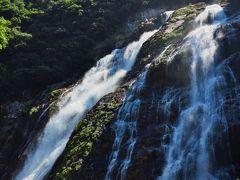 屋久島-5 大川の滝、水量多く88mを落下 ☆滝壺近くで迫力を体感