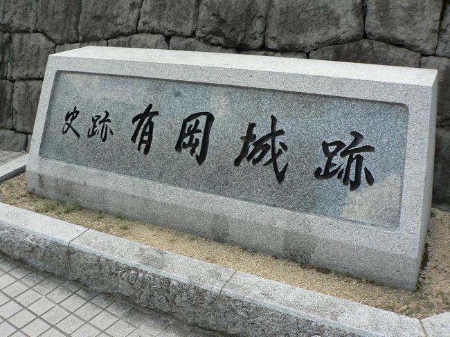 伊丹城(いたみじょう)は、有岡城(ありおかじょう)ともいう兵庫県伊丹市の城で国の史跡。1520年に建てられた日本最古の天守台を持つ平城で史跡公園として整備されている。<br />荒木村重(あらき むらしげ1535−1586年)は、伊丹氏の伊丹城を大改修し、有岡城に改称した。だが荒木村重は後に謀反を起こし、有岡城は織田信長に攻められて落城。<br />城の東側を流れる伊丹川との間は崖になっており、さらにその東側には駄六川と猪名川が流れており、これらの河川が天然の要害となっていた。有岡城跡はJR伊丹駅に面しており、見学には便利が良く歩道橋からも有岡城(ありおかじょう)跡周辺が良く見える。<br />(写真は有岡城跡碑)<br />