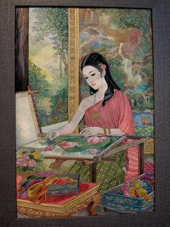 チャオプラヤー川をまたいで (1) タイ刺繍展を見に行く * バンコク紀行(82) *