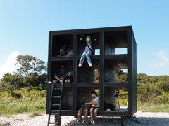 佐久島・夏の名残を求めて★石垣海岸のおひるねハウスは大繁盛♪