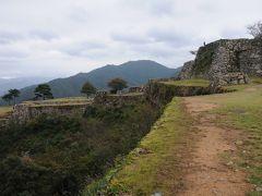 竹田城跡・大規模な平面構成と美しい石積み