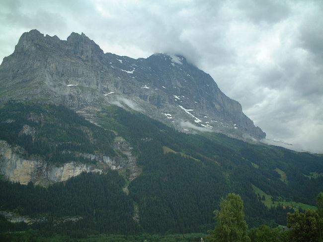 スイスの観光とハイキング 2003年7月
