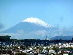 奥の細道を訪ねて最終回(第16回)01米沢に向かう新幹線の窓に写った富士山