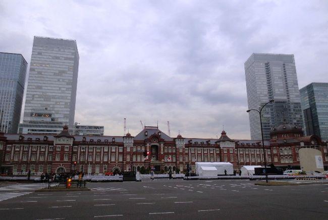 早いもんで、今年ももうすぐ終わりです。<br />訪れた事の無い場所・素敵な場所に色々と出掛けられて良い年でした。<br /><br />東京の街はクリスマス&年の瀬のイルミネーションで華やかですが・・・・<br />華やぎとは少々縁遠いいので、一足お先に年越し&お正月のお買い物を<br />する為に東京駅にやって来ました♪ 今回の目的は、ずばり「スイーツ」<br /><br />我が家では、お正月用にスイーツを買い込むと言う身体の事を考えると<br />あまり良い事ではないよね~的な、習慣があるのですが・・・・(苦笑)<br /><br />お正月くらいは「ダイエット」を忘れ、目新しいスイーツでも用意<br />しようかと、かなり気合を入れて出掛けて来ました。<br /><br />普段のお買い物は・・・スイーツ~家電まで「池袋」を基点にする事が<br />多い私ですが、今回は今年注目のスポット・・・「東京駅」へ見学兼ねて<br />やって来ました。なぜか「キャリーバッグ」片手に!<br /><br />最近、すっかり運動不足の私は・・・趣味の「御朱印巡り」も「街歩き」も<br />ご無沙汰なので、今回はしっかり街歩きもして来ました♪<br />