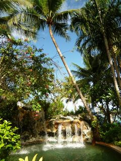 クリスマスのグアム 優雅なバカンス♪ Vol19(第6日目朝) ☆アウトリガー・ボエジャーズクラブラウンジの朝食♪美しい庭園とプールを散策♪