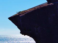鬼ヶ城 海の青さ輝く奇岩景勝地で一休み ☆鬼は海賊征伐の伝説か