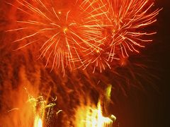 秩父夜祭-3 冬の花火大会 駐車場は絶好の場 ☆豪華スターマインの大連発!