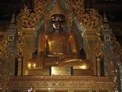 ミャウー  ヤカイン州のマハム二仏像と街なみ