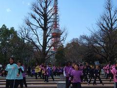 東京マラソン 2013 下 芝公園 大江戸舞祭り 応援ダンス