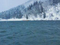 最上川 冬景色の芭蕉ライン下り乗船 ☆豪雪のため折り返し運行