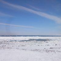 ◆流氷とカシオペアの旅◇2日目◆流氷ウォークと流氷ノロッコ号で流氷いっぱい