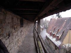 城壁が内と外にあるとは知らなかったローテンブルグの城壁に昇れた