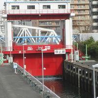 ミニパナマ運河「扇橋閘門」見学