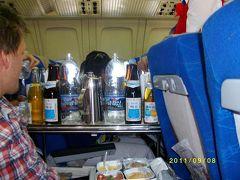 高麗航空の機内にて