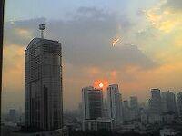 私だけの記憶 夕空061105~120127夕焼け雲があまり見えない