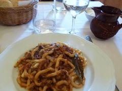 春の優雅なイタリア中部・サンマリノ巡り旅♪ Vol87(第8日目昼) ☆シエナ:ランチは「Taverna di Cecco」で絶品のパスタを頂く♪