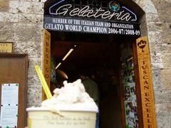 春の優雅なイタリア中部・サンマリノ巡り旅♪ Vol110(第10日目午前) ☆サンジミニャーノ:最後の楽しみは世界一のジェラートを頂く♪そして最終地フィレンツェへGO!