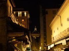 春の優雅なイタリア中部・サンマリノ巡り旅♪ Vol115(第10日目夜) ☆フィレンツェ:アルノ川に沿って夜景を眺めながら歩く♪美しいヴェッキオ橋♪