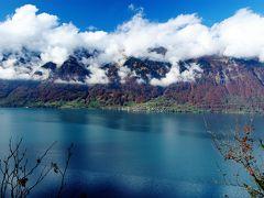 スイスの秋をドライブで堪能! 【3】ブリエンツ湖の絶景とローヌ河畔の一面の色づくぶどう畑