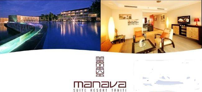 マナバ・スイート・リゾート・タヒチ<br />ホテル周辺情報 《続編》<br /><br />◆ホテルを出て右方向へ進む・・・。<br />所要時間は歩く速度により個人差が出ますので、あくまでも目安です。<br /><br />◆ホテルを出て徒歩約1~2分◆<br />ホテルの前の道を右側に歩いていくとすぐ『ポリネシア銀行』があります。<br />この銀行には窓口があり、両替もできます。<br />外にはATMもあるので便利です。<br /><br />そしてその隣りには美味しいと評判の「ローストチキンのお店」があります。<br />客席は無く、テイクアウト専用のお店。<br />ほぼ毎日、早朝より開店、夕方になる前に閉まってしまいます。<br /><br />銀行とチキン屋さんの道の向かい側がバス乗り場です。<br />「バス乗り場」ではあっても、「停留所」ではない。<br />???。<br />実は、タヒチのバスは停留所がない所でも手を挙げると止まってくれます。<br />「タクシー乗り場」に近い感覚です。<br />平日の昼間のみ、おおむね30~40分ごとに運行しています。<br /><br />◆ホテルを出て徒歩約10分◆<br />海側の通りに『ブルーバナナ』というレストランがあります。<br />海沿いというロケーションはなかなかの雰囲気。<br />日によってはピザなども出しているようです。<br />そしてその斜め向かいには『Tahiti Pas cher』という日用品などが売られているお店と『GEMO』という靴屋、『TATI』という洋服屋があります。<br />靴屋ではビーチサンダルやアクアシューズを買ったり、洋服屋さんでは水着を買ったりもできます。<br /><br />◆ホテルを出て徒歩約12分◆<br />海側に『キャプテンブライ』というレストランがあります。<br />ラグナリウムという水族館が併設されたレストランで、曜日によっては夜にダンスショーが行われているそうです。<br />レストランで食事をすると水族館に無料で入れますが、水族館だけ入場料を払って見ることもできます。<br /><br />◆ホテルを出て徒歩約15分◆<br />ウィークエンドというスーパーがあります。<br />このお店で売っているものはほとんどが食品がですが、品揃えも鮮度も良いので地元でも好評のお店です。<br />徒歩だとホテルからは少々距離がありますが、食材調達にはおすすめです。<br />また、このスーパーの向かい側には海とモーレア島がきれいに見られるので、散歩がてらに向かってみるもの一興かと思います。<br /><br />