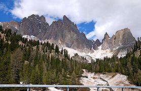 2013.5ドロミテアルプス周辺920Kmドライブ旅行9-Misurina湖,残念三姉妹峰まで通行止め,南チロルへ