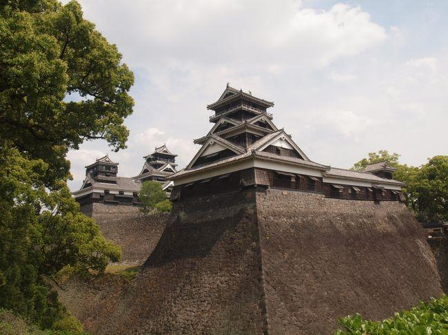 とりあえず熊本城には寄る予定は無かったのですが、熊本港から島原へ渡るフェリーの時間に余裕があったので日本三大名城(と言っても諸説ありますね)と呼ばれる熊本城に立ち寄ってきました。<br /><br />さすが名城と呼ばれる事はあって、見ごたえがありました。