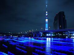 優しい青の光につつまれて~東京ホタル*スカイツリーイベント~