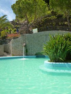 初夏の優雅なバカンス ナポリのイスキア島♪ Vol39(第6日目午後) ☆イスキア島サンタンジェロ:温泉公園「Giardini Termali」で優雅に過ごす♪