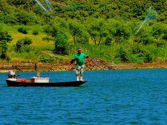 四万十川-1 屋形船に乗り昼食 ゆったり川下り ☆投網漁・柴漬漁も見学し