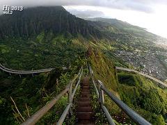絶景ハワイ「天国への階段 / Stairway to Heaven」【Hawaii 2013 Vol.2 Haiku Stairs】
