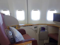 中華航空 ファーストクラス CI156 台北 → 関西空港
