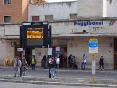 サン・ジミニャーノまでバスのたび。ポッジボンシで乗り換えです。
