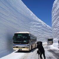 ☆1日目:【富山県】 開通5日目で初の快晴に恵まれた立山アルペンルート 雪の大谷