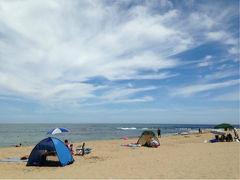 行ってきました海水浴 丹後半島「琴引浜」へ 2日目