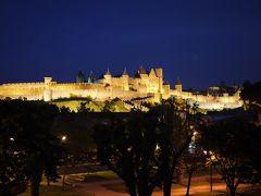 期待以上の美しい夜景、フランスのカルカッソンヌのお城。ドラゴンクエストの夢の世界を体験。